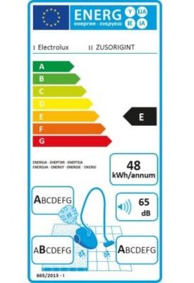 Aspirateur Electrolux - ZUSORIGINT - Etiquette Energétique