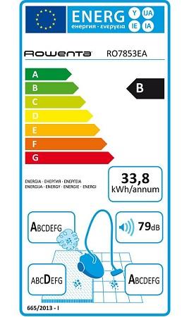 Aspirateur Rowenta - RO7853EA - Etiquette Energetique