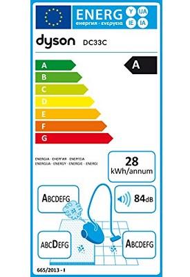 Aspirateur Dyson - DC33C Origin - Etiquette Energetique