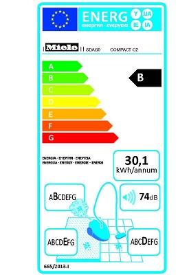 Aspirateur Miele - Compact C2 Ecoline - Etiquette Energetique