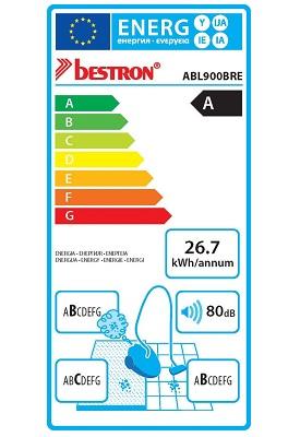 Aspirateur Bestron - ABL900BRE Ecosenzo - Etiquette Energetique