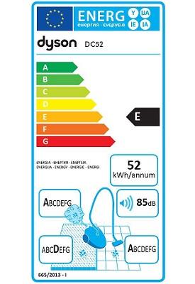 Aspirateur Dyson - DC52 Animal Turbine - Etiquette Energetique