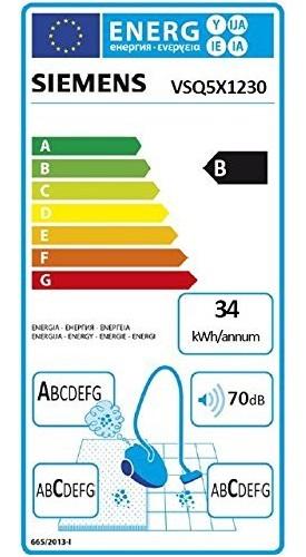 Aspirateur Siemens - Q5.0 Extreme SilencePower VSQ5X1230 - Etiquette Energetique