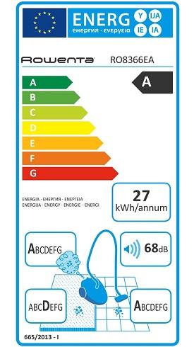 Aspirateur Rowenta - Silence Force Multi Cyclonic RO8366EA - Etiquette Energetique