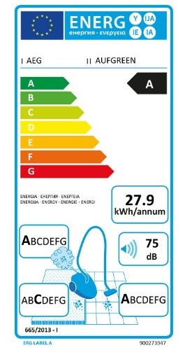 Aspirateur Electrolux - AEG - UltraFlex ZUFGREEN - Etiquette Energétique