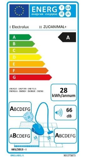 Aspirateur Electrolux - UltraOne ZUOANIMAL+ - Etiquette Energétique