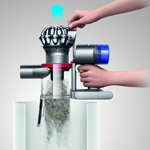 Aspirateur balai - Dyson V8 Absolute - Vidange du réservoir à poussières