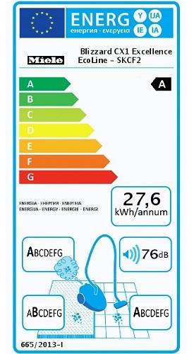 Aspirateur Miele - Blizzard CX1 Excellence - Etiquette Energétique