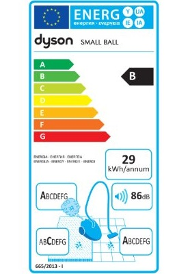 Aspirateur balai - Dyson Small Ball Multifloor - Etiquette Energétique