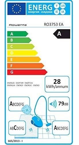 Aspirateur Rowenta - Compact Power Cyclonic RO3753EA - Etiquette Energétique