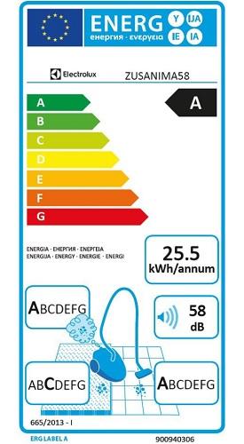 Aspirateur Electrolux - UltraSilencer ZEN ZUSANIMA58 - Etiquette Energétique
