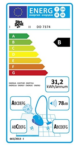 Aspirateur Dirt Devil - Beat 2.1 - Etiquette Energétique