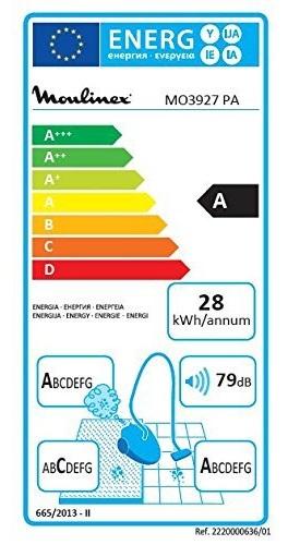 Aspirateur Moulinex- Compact Power MO3927PA - Etiquette Energétique