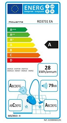 Aspirateur Rowenta - Compact Power Cyclonic RO3731EA - Etiquette Energétique