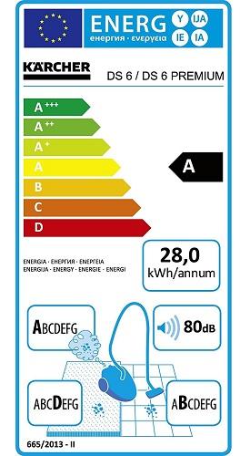 Aspirateur Karcher - DS 6 - Etiquette Energétique