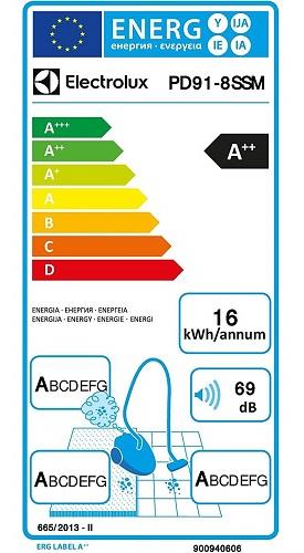 Aspirateur Electrolux - Pure D9 - Etiquette Energétique