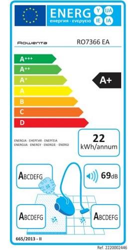 Aspirateur Rowenta - Silence Force 4A+ RO7366EA - Etiquette Energétique
