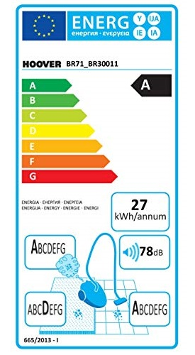 Aspirateur Hoover - BR71_BR30 - Etiquette Energétique