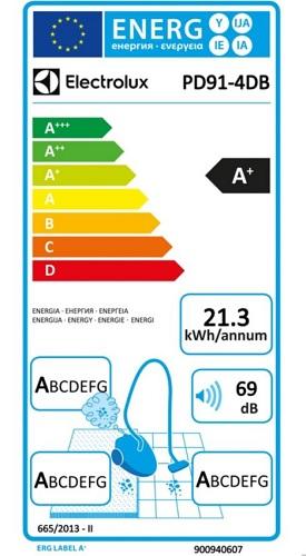 Aspirateur Electrolux - Pure D9 Origin - Etiquette Energétique