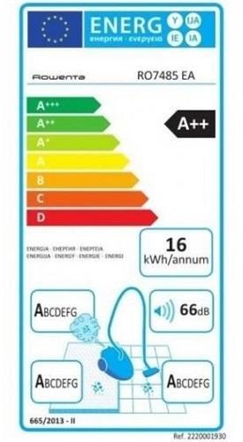 Aspirateur Rowenta - Silence Force 4A+ Full Care Pro RO7485EA - Etiquette Energétique