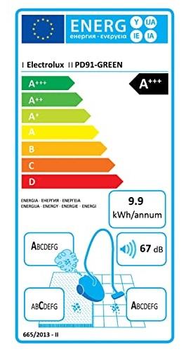 Aspirateur Electrolux - Pure D9 Green - Etiquette Energétique